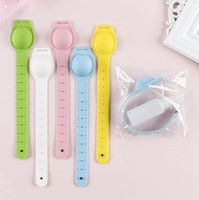 Wholesale girls hand bracelets for sale - Group buy Portable Silicone Bracelet Wristband Hand Soap Dispenser Band Squeeze Bottle Hand Sanitizer with Empty Bottle KKA8114