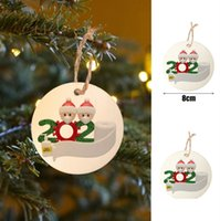 Wholesale wish toys for sale - Group buy Christmas Ornament DIY Christmas Tree Pendant Best Wish for You Xmas Party Stay at Home Social Distancing Toys with Snowman Mask F91206