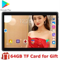 Wholesale tablet pc ce resale online - 2020 NEW BOBARRY T100 inch Tablet Pc Android OS dual SIM card phone ips WIFI GPS CE D tempered glass screen