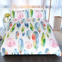 Wholesale leaf bedding sets for sale - Group buy Pastoral Leaf Bedding Sets Bed Set Nordic Duvet Cover Pillowcase Covers Quilt Double Size Single Queen King Flat Sheet