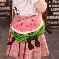 Wholesale sweet watermelon resale online - 2020 New Spring Fashion Women Girls Korean Messenger Bag Cute Fruit Watermelon Cherry Sweet Shoulder Bag Ladies