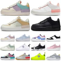 ingrosso bianco basso top sneakers uomo -nike air force 1 af1 shadow forces one shoes airforce shadow type n354 scarpe con zeppa shadow high low top skate scarpe da ginnastica da donna da uomo sneakers sportive casual