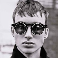 Wholesale quay sunglasses resale online - SteamPunk Sunglasses women men trending products Flips quay Sun Glasses gothic festival fenimino