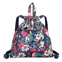 Wholesale school bag flower korean style resale online - Backpack Women Shoulder Bag Canvas Flower School Bag For Teenage Girl Travel Backpack Korean Rucksack Mochilas Feminina XAX88