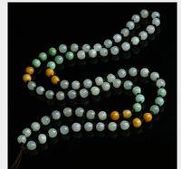 Wholesale myanmar jade resale online - a cargo Myanmar jadeite mm jade bead lanyard three color round bead jade pendant rope jade pendant rope hand woven