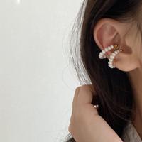 Wholesale magnets for earrings resale online - Korea Retro Baroque Natural Freshwater Pearl Magnet Hoop Earrings No Pierced Earrings Gift For Girls Romantic Wedding Jewelery