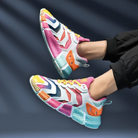 Wholesale men women Running Shoes Triple Black White Neon Pink Fashion mens womens Trainers Athletic Sports Sneakers Size