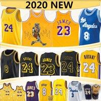trikot anthony groihandel-LeBron James 23 Basketball-Trikots NCAA Anthony 3 Davis 2020 neue Retro-Reminiszenz Signature Mamba schwarzes Jersey