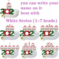 Wholesale flat christmas ornaments for sale - Group buy 2020 DIY Name Blessings Snowman Christmas Tree Hanging Pendant PVC Spot Mask New Christmas Decorations Santa Claus Ornaments flat free ship
