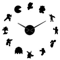 Wholesale video games characters resale online - Gift Retro Gamer Video Stickers Nerdy Wall Timepiece Wall Diy Watch Game Characters Large Decor Art Room Wall Clock Game Geeky vBxJM