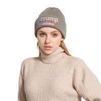 Wholesale head warmers for men for sale - Group buy Trump Knitted Hat Adult Trump Embroidery Head Cap Sport Casual Keep Warm Caps Fashion Solid Knitting Woollen Hats For Men And Women OOA9030