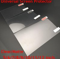 Wholesale Universal inch Screen Protectors Clear or Matte Protective Film for Mobile Phone Tablet Car GPS LCD MP3