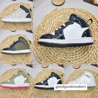 Wholesale gold boy toddler shoes resale online - Infant s Mid Se Kids Basketball Shoes Black Metallic Gold White New Born Baby Children Athletic Sports Sneakers Boy Girl Toddlers Tra Rkql