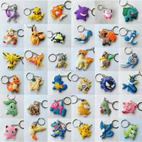 Wholesale action rubber for sale - Group buy Hot Sale Styles Bikachu Silica Gel Keychain cm Action Figure Keychain Pocket Monster Ring Keyring Fashion Accessories