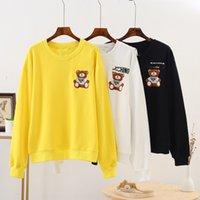 Wholesale women s fall hats for sale - Group buy Fall new women s clothing Korean fashion brand fashion sweet letter bear sweater sweaterembroidery casual round neck sweater for women