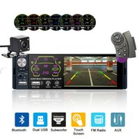 Wholesale remote screen view online – 4 quot Car Stereo Bluetooth Radio Din P5135 Car Radio Touch Screen SWC Remote USB FM Stereo MP5 Player with Rear View Camera