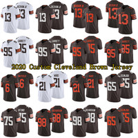 Wholesale 71 jersey resale online - 13 Odell Beckham Jr Custom Cleveland Browns Jersey SIONE TAKITAKI GREEDY WILLIAMS SHEEHY GUISEPPI Jedrick Wills Jr