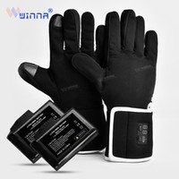 Wholesale heated winter gloves for sale - Group buy Winter Electric Heating Gloves For Riding Biking Fishing Outdoor Sports Use hours mAh Battery Heated Gloves Touch Screen