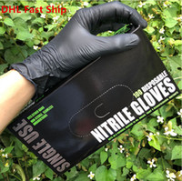 Garden Household Cleaning Food Grade Durable Kitchen 100pcs Disposable Nitrile Rubber Protective Gloves DHL Fast Ship