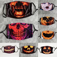Wholesale horror demon mask resale online - a534X Mask Clown Costume Party for Latex Adult Head Hallowmas Face Full Masks Horror Demon Props Supplies