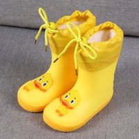 Wholesale toddler water boots resale online - KushyShoo Children s Shoes PVC Kids Baby Cartoon Shoes Water Shoes Waterproof Rain Boots Toddler Girl Rainboots Winter LJ200903