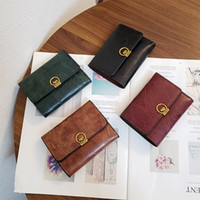Wholesale tri square resale online - New cute dog simple designer women s wallet women short tri fold small purse women s coin purse card bag wallet trend