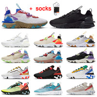 Wholesale 2020 Fashion Epic react vision react element mens womens running shoes Photon Dust Triple Black White outdoor sports trainers sneakers