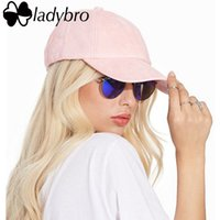 Wholesale suede caps for sale - Group buy Ladybro Spring Women Hat Cap Casual Ladies Dad Hat Men Brand panel Suede Baseball Cap Bone Male Female Snapback Casquette