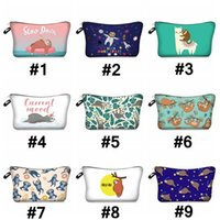 Wholesale multifunction makeup storage bag resale online - Women Cosmetic Bag Sloth Makeup Bag Multifunction Travel Pouch Lady Sundries Storage Bags Portable Toiletry Bag Organizer DHB1302