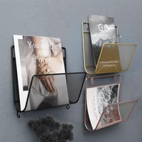 Wholesale small rack for sale - Group buy Shelf Mesh Hooks Bended cm Iron Carrier Creative Small With Wall Magazine Rack X Album Holder Mounted Book kEMBh mywjqq