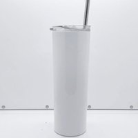 3M rubber bottom DIY 20oz sublimation straight skinny tumbler 20 oz blanks coffee mugs stainless steel vacuum water bottle with lid straw