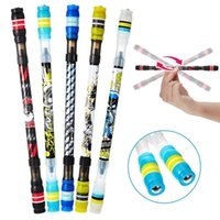 Wholesale plastic ballpoint pen refills resale online - Pen Non Spin Gaming Ink Blue Playing Rotating Matting Slip Ballpoint Coated Pen Finger Refill Rolling Spinning Cool ppshop01 ZuTLH