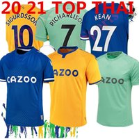 Wholesale soccer flashing resale online - NEW Evert soccer Jerseys HOME AWAY yellow Richarlison SIGURDSSON DIGNE CENK TOSUN ANDRE GOMES GBAMIN FOOTBALL SHIRTS