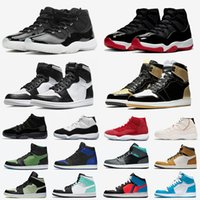 ретро 12 низкий оптовых-Nike Air Jordan Retro 11 Stock X 2020 White Bred Low Concord 11 Mens Basketball shoes Snakeskin 11s Cap and Gown space Jame Men Women Sports Designer sneakers 5.5-13