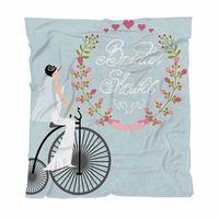 Wholesale bridal shower dresses resale online - Throw Blanket Super Soft Blankets Bridal Shower Decorations Bride In Wedding Dress With Child Adult Blanket Air Conditioning Quilt