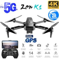 fpv brushless quadcopter 2021 - K1 RC Drone GPS with 4K HD Camera Gesture Control 5G Wifi FPV Brushless Flight Time 28mins Foldable Quadcopter Toy For Kids