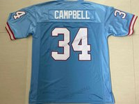 Wholesale customized football jerseys resale online - Cheap Customize Earl Campbell Football Jerseys Retro College Stitched Mens Blue Size XS XL Any Name And Number Top Quailty