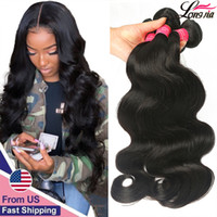Wholesale deep wave hair bundles for sale - Group buy 9A Brazilian Body Wave Bundles Deals Unprocessed Brazilian Straight Human Hair Extension deep wave hair water wave virgin hair bundles