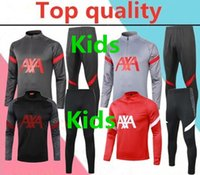 ingrosso calcio tuta adulta-2020 2021 liverpool kids soccer tracksuit 20/21 liverpool for adult football training suit