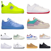 fuera zapatillas de deporte blancas al por mayor-nike air force 1 shadow forces off white mca af1 airforce one just do it dunk zapatos casuales hombre mujer Utility Volt zapatillas deportivas