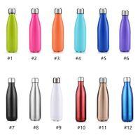 New 500ml 17oz Cola Shaped Sport water bottle Vacuum Insulated Travel Water Bottle Double Walled Stainless Steel Vacuum Bottle coke shape