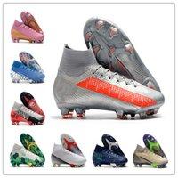 Wholesale high ankle superfly football boots for sale - Group buy 2020 Mercurial Superfly Elite SE FG Soccer Shoes CR7 SE Flash Crimson Neymar Mens Football Boots High Ankle Cleats