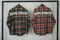 Wholesale cotton brushes resale online - Palm SS Angels Brushed High Street Plaid Back Classic Letter LOGO Shirt Jacket Men s Women s Long Sleeve Shirts M XXL