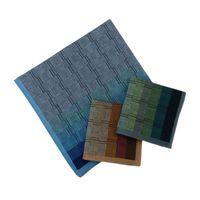 Wholesale mens handkerchiefs cotton for sale - Group buy 3Pcs Set Mens Cotton Handkerchief Gradient Color Wall Brick Plaid Patterns Pocket Square Hankies for Wedding Party Gift Random