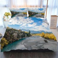 Wholesale 3d bedding set christmas for sale - Group buy 3D Printed Merry Christmas Bedding Set View From The Historic Bridge Over Shotover River In Duvet Cover Designer Bed Comforters Sets