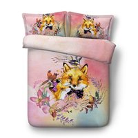 Wholesale kids quilts covers resale online - Cartoon Animal Fox Duvet Cover Pillow Shams Pieces Quilt Comforter Cover Kids Bedding Sets Bedspreads Microfiber