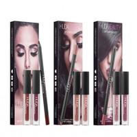 Wholesale case full makeup resale online - HUDA BEAUTY lip kit lipgloss lipliner PVC Case Brand New in box lipgloss makeup Beauty MC Lip gloss Cosmetics