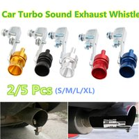 Wholesale car exhaust sound simulator resale online - S M L XL Car Exhaust Pipe Sounder Car Tuning Turbine Whistle Sounder Tail Motorcycle Sound Simulator Whistler Exhaust A30