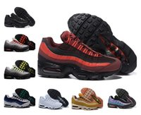 Wholesale 95 max for sale - Group buy high quality OG Mens Running Shoes s air Gold Bred Gym Red Laser Fuchsia Gradient maxes White Blue Classic Black Men Sports sneakers