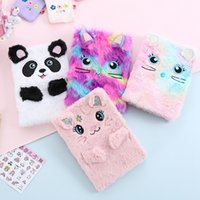 Wholesale cats notebooks resale online - 1 Cartoon Colorful Dream Cat Plush Notebooks Girls Portable Pocket Diary Planner Notepad Escolar Papelaria Stationery